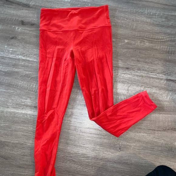 Athleta Red Leggings